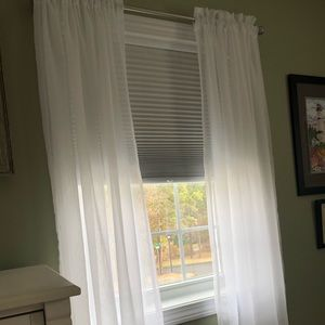"Sheer Crinkle Rod-Pocket Curtains 63"" (2pr)"